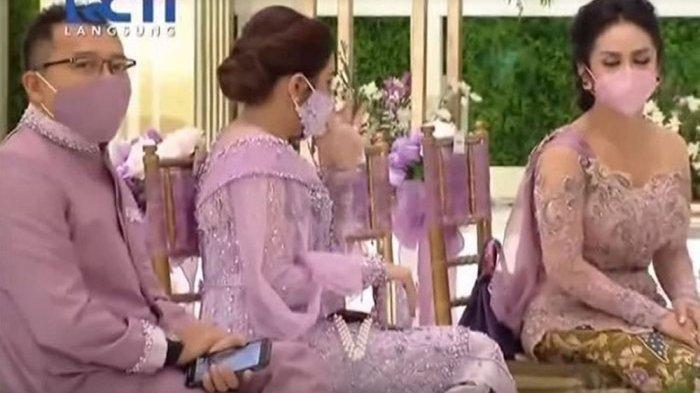 Anang dan istrinya Ashanty serta Krisdayanti dalam lamaran Aurel Atta (screenshot)