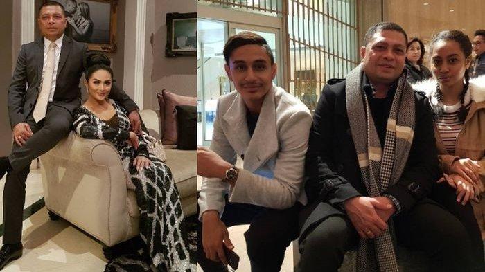 Krisdayanti dengan Dua Anak Sambungnya, Dillah Daesslow dan Noor Athalia