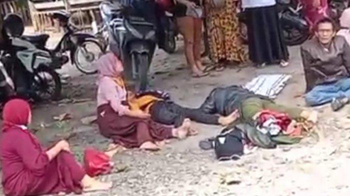 Korban dua mobil saling tabrak di Jalan Lintas Sumatera, Desa Perkebunan Lima Manis, Kecamatan Limapuluh, Kabupaten Batubara, Rabu(2/6/2021).