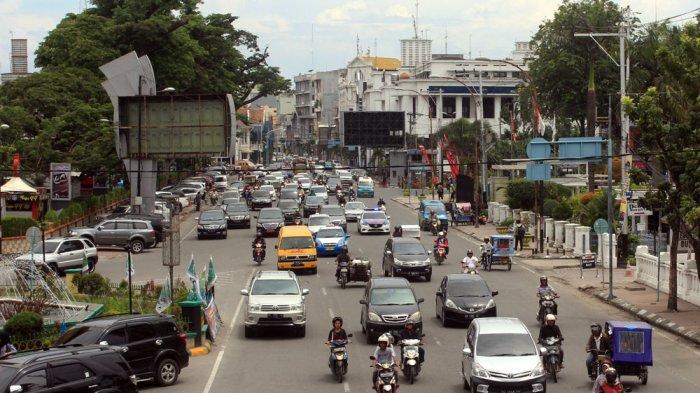 Akhir Pekan, Lalu Lintas di Pusat Kota Medan Bebas Macet
