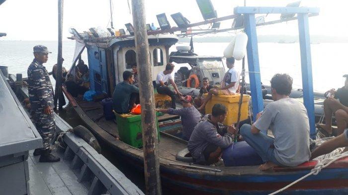 Lanal TBA Amankan Satu Buah Kapal Bawa TKI Ilegal Menuju Malaysia
