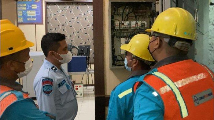 Lapas Binjai Periksa Instalasi Listrik Antisipasi Kebakaran di Dalam Blok
