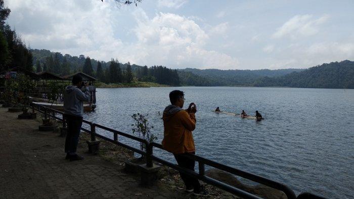 DANAU Lau Kawar yang berada di kaki Gunung Sinabung, Kecamatan Naman Teran, Kabupaten Karo, Sumatera Utara, Senin (2/3/2020).