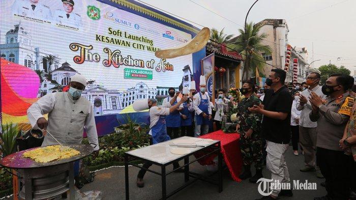 BERITA FOTO Kesawan City Walk Medan Resmi Dibuka,Wisatawan Dapat Menikmati Aneka Kuliner Bersejarah