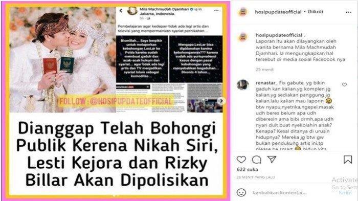 Lesty dan Rizky Billar terancam dilaporkan ke Polda