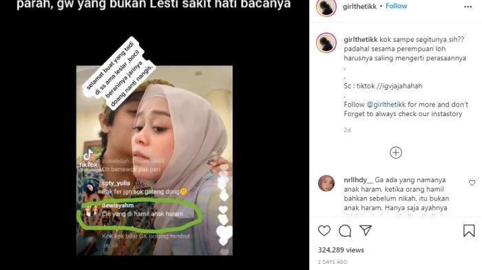 Lesti Kejora dihujat saat live Instagram