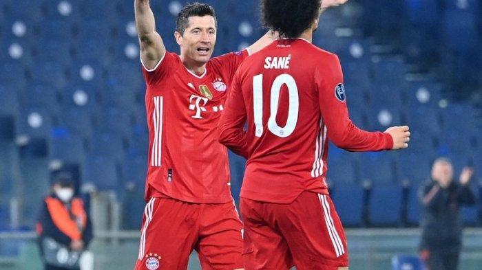 HASIL LIGA CHAMPIONS - Bayern Muenchen Bantai Lazio 4-1, Lewandoski Lewati Raul Gonzales