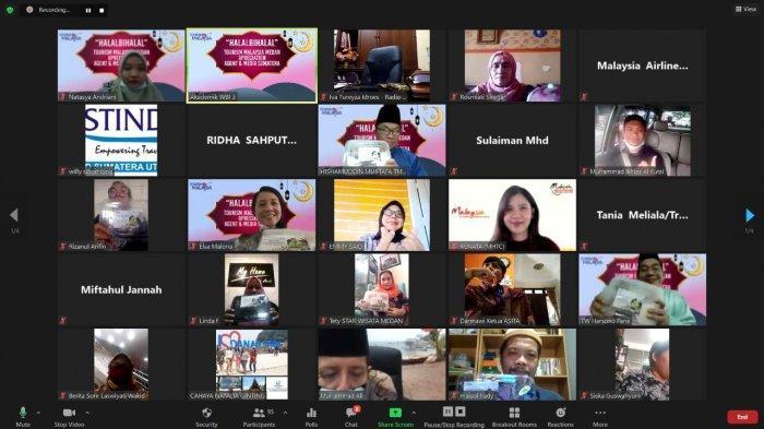 Tourism Malaysia Medan Gelar Halalbihalal Virtual dengan Penggiat Industri Pariwisata dan Media