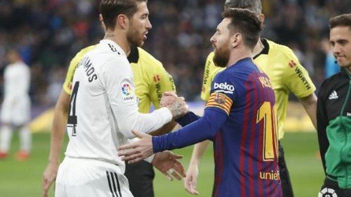 JELANG Jadwal Tayang El Clasico Real Madrid Vs Barcelona, Ramos Akui Messi Sumber Kekalahan El Real
