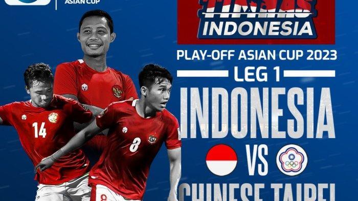 LINK Nonton Live Streaming Gratis Timnas Indonesia Vs Taiwan Jam 19.00 WIB, Akses Di Sini dari HP