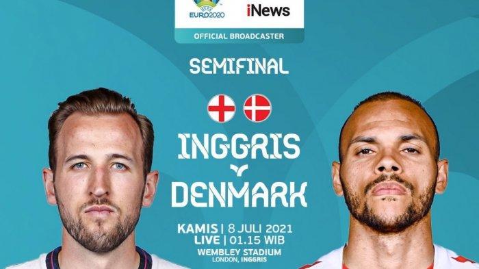 Live Streaming Inggris vs Denmark Semifinal Euro 2020