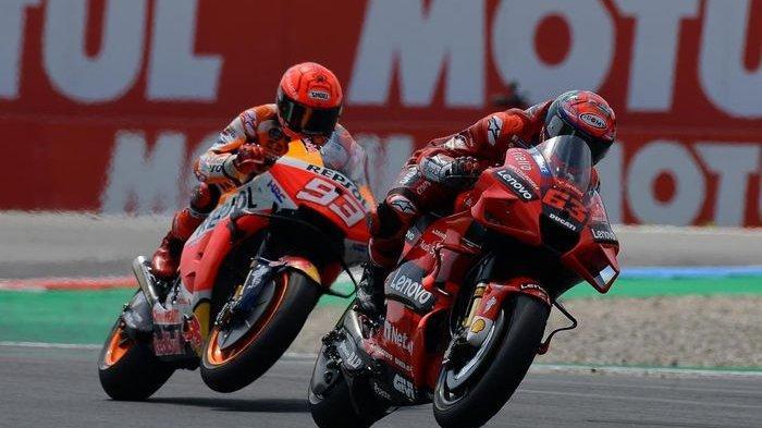 Live Streaming MotoGP San Marino Berlangsung, Bagnaia vs Marquez Memanas