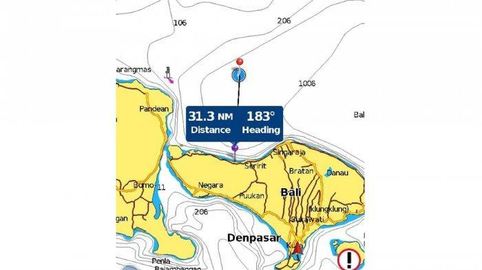 Koordinat lokasi hilangnya KRI Nanggala-402
