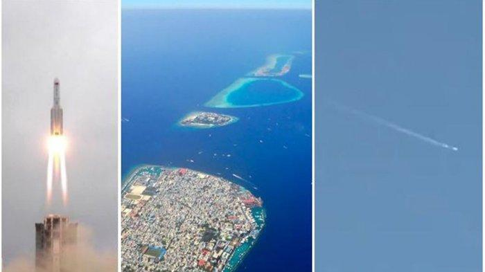 REAKSI Maladewa setelah Puing Roket China Long March 5B Jatuh di Perairannya