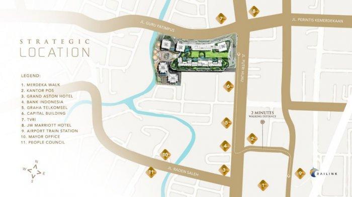 Lokasi Podomoro City Deli Medan yang sangat strategis di pusat kota Medan