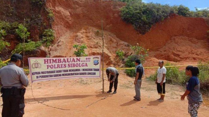 Pascalongsor Tewaskan Dua Orang di Sibolga, Polisi Pasang Spanduk dan Police Line