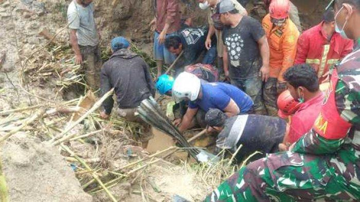Empat Korban Longsor di Dusun Lau Bawang Kabanjahe Ditemukan, Pencarian Masih Berlangsung