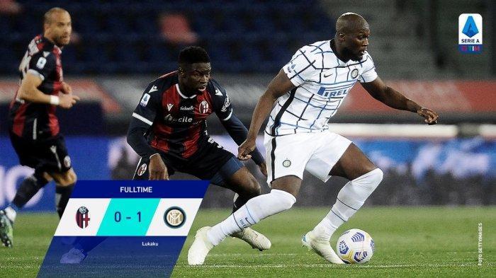 Hasil Liga Italia - Lukaku Bawa Inter Milan Menang Kontra Bologna, Nerazzurri Unbeaten 9 Laga