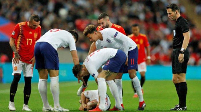 Kondisi Luke Shaw! Cedera Benturan Kepala Parah? Inggris Takluk 1-2 atas Spanyol