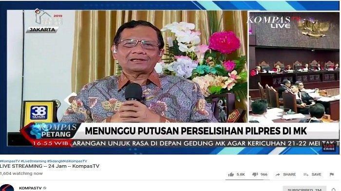 MAHFUD MD Eks Ketua MK Prediksi Bunyi Keputusan Sidang Sengketa Pilpres 2019, Ini Bunyinya