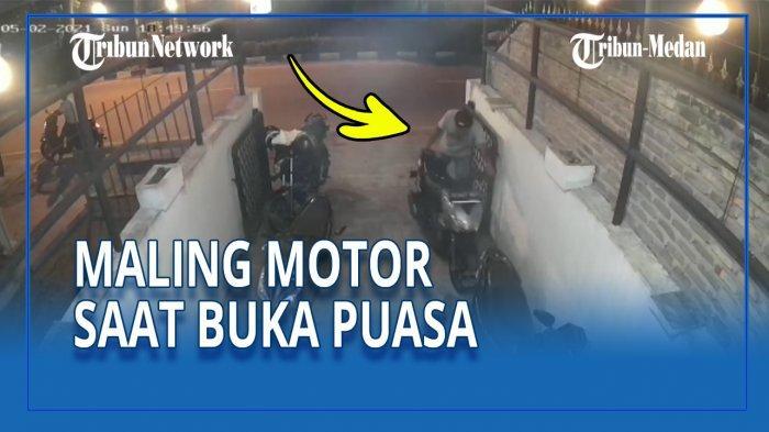 MALING Beraksi saat Buka Puasa, Korban tak Sadar Tinggalkan Kunci di Sepeda Motor