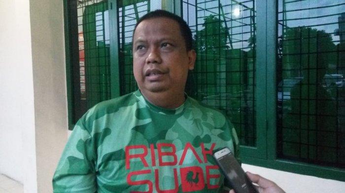 Manajer PSMS Medan Mulyadi Simatupang saat di Kebun Bunga, Jumat (23/10/2020).