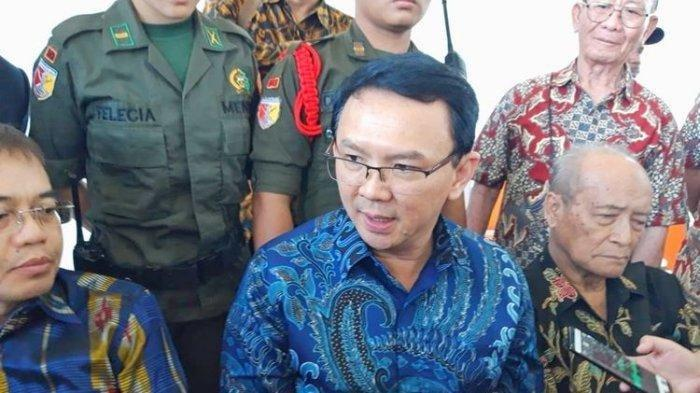Mantan Gubernur DKI Jakarta Basuki Tjahaja Purnama alias Ahok. Ahok melaporkan kasus pencemaran nama baik yang dialaminya di media sosial. (KOMPAS.COM/GHINAN SALMAN)
