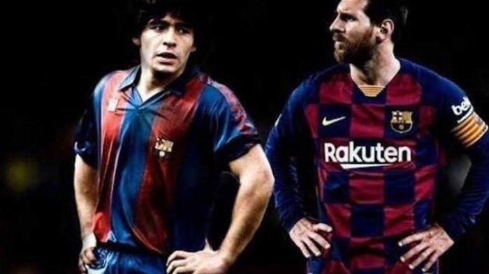 Terkenang Momen Gol Indah Maradona saat Bela Barcelona, Gol Tangan Tuhan Ditiru Messi