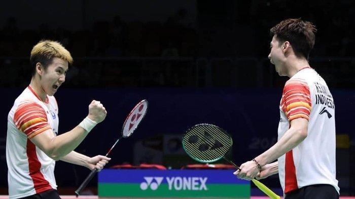 Marcus Fernaldi Gideon/Kevin Sanjaya. (instagram/badminton.ina)