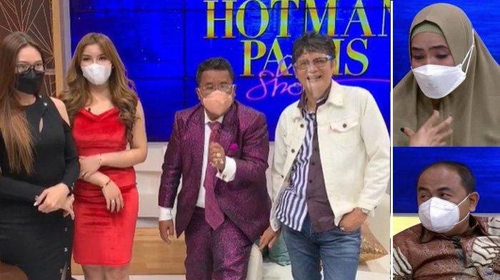 Dokter Boyke di acara Hotman Paris Show (kiri). Potret Marlina Octoria dan Mansyardin Malik (kanan).