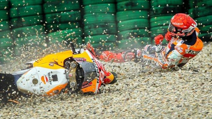 JALANI MotoGP Belanda 2021 Hari Ini, Kecelakaan Hari Pertama Buat Marc Marquez Sengsara