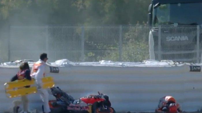JELANG Live Streaming MotoGP Spanyol 2021 Malam Ini, Kondisi Terbaru Marquez Usai Alami Kecelakaan