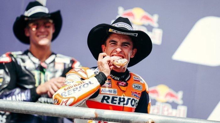 Marc Marquez sukses menjadi juara di MotoGP Amerika 2021