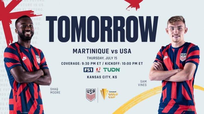 JADWAL Piala Emas CONCACAF 2021 Besok, Haiti Vs Kanada, Martinique Vs Amerika Live Mola TV