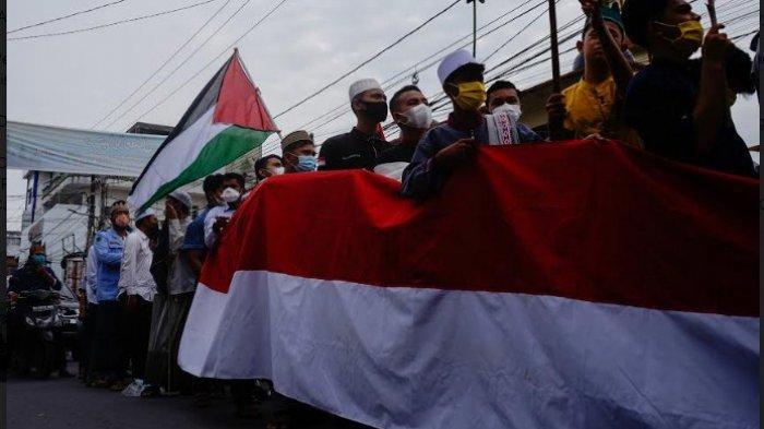 Aliansi Umat Islam Asahan Aksi Solidaritas untuk Palestina dan Kumpulkan Dana Rp 31 Juta
