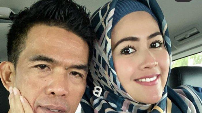 Meggy Wulandari dan suami barunya asal Makassar, Sulawesi Selatan.
