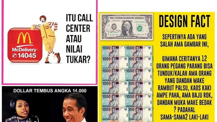 Rupiah, Orde Baru, dan Meme Haters Jokowi