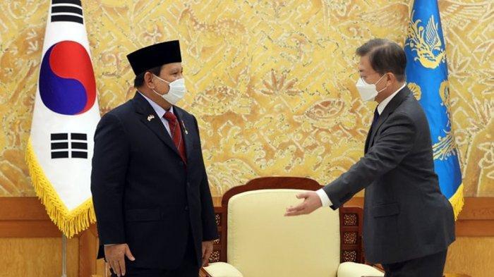 BAHAS Proyek Jet Tempur Korea Indonesia KF-X/IF-X, Prabowo Disambut Hangat Menhan & Presiden Korea