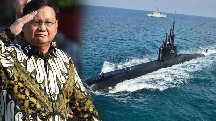 Menhan Prabowo dan kapal selam KRI Nanggala-402