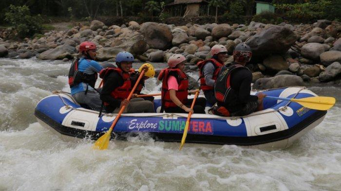 Wisata arung jeram di Explore Wisata Kabupaten Langkat