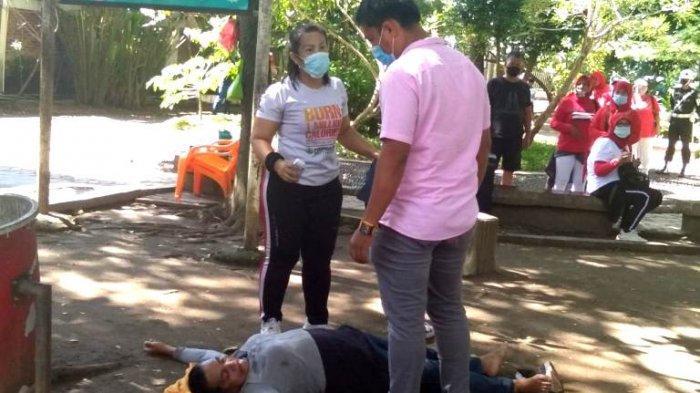 Bikin Heboh, Seorang Wanita Paruh Baya Meninggal Usai Senam di Taman Bunga Kota Siantar