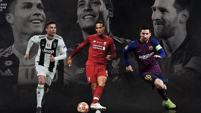 Messi, Ronaldo dan Virgil van Dijk jadi Nominator UEFA Men's Player of the Year, Siapa Pemenangnya ?