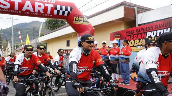 Merah Putih Toba Bike 2019 Cara Polda Sumut Promosikan Danau Toba