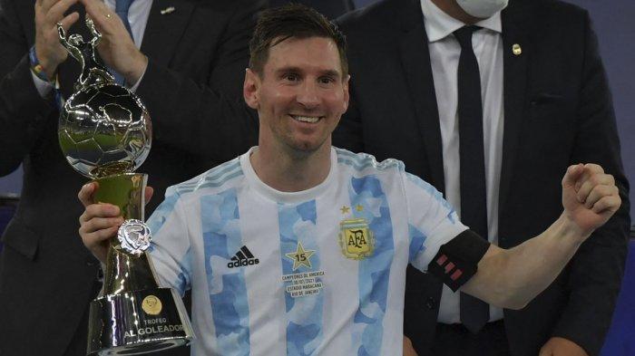 Lionel Messi bawa Argentina juara Copa America 2021 dan jadi pemain terbaik.
