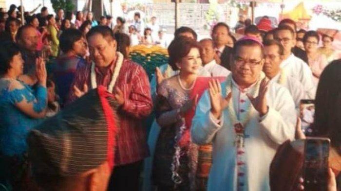 Kunjungan Uskup Agung Medan Mgr Kornelius Sipayung OFM Cap ke Paroki Sidikalang, Begini Pesannya