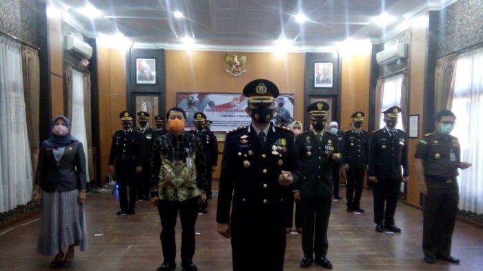 Forkopimda Langkat Ikuti HUT ke-75 Bhayangkara, Presiden: Polri Jangan Kalah dengan Penjahat