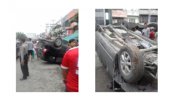 Kasatlantas Polrestabes Ikut Melayat ke Rumah Korban Kecelakaan - mobil-avanza-terbalik-tribun_20170409_230600.jpg