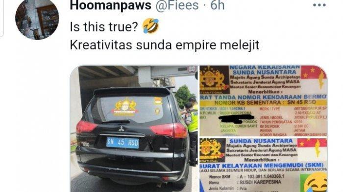 Mobil Pajero dan Kartu Identitas Milik Sunda Empire
