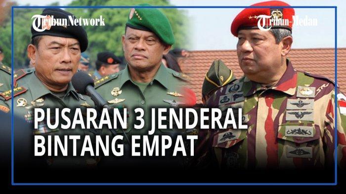 Kolase foto para jenderal bintang 4 TNI AD, mulai dari Moeldoko, Gatot Nurmantyo dan Susilo Bambang Yudhoyono (SBY)