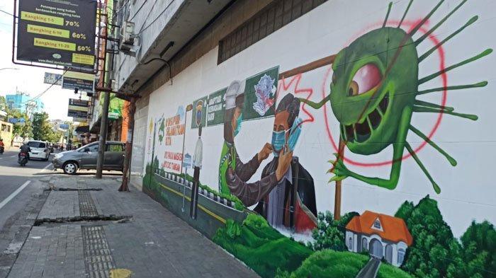 Rusak Lukisan Mural Ajakan Prokes, Satgas Covid-19 Kota Medan: Masyarakat Harusnya Menjaga